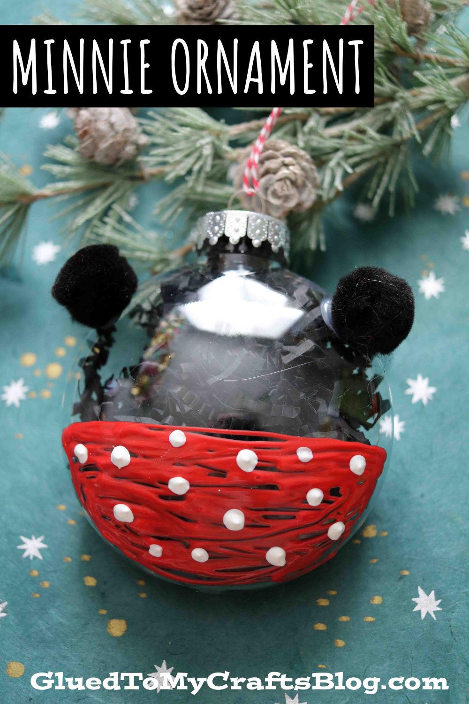 Plastic Ornament Minnie Mouse
