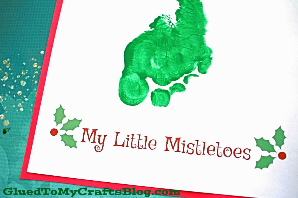 My Little Mistletoes - Footprint Keepsake Printable