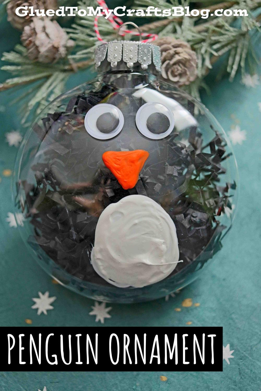 Plastic Ornament Penguin