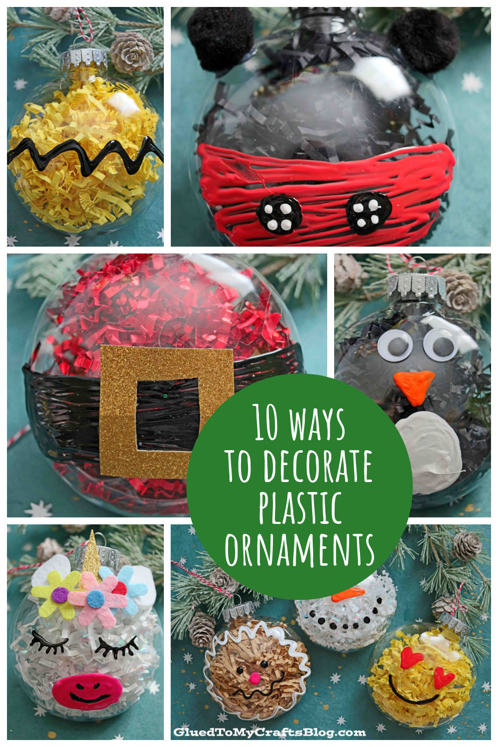 10 Fabulous and Super Easy Plastic Ornament Crafts