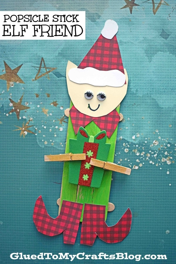 Popsicle Stick Elf Friends - Kid Craft Idea
