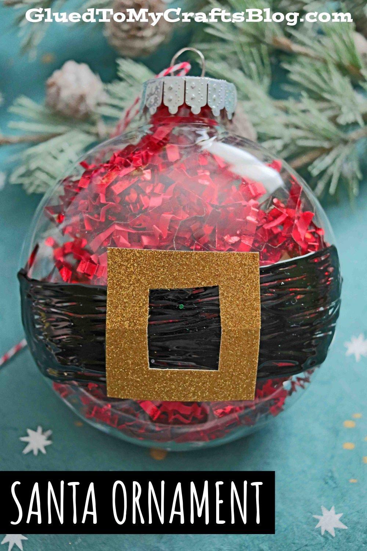 Plastic Ornament Santa Belly