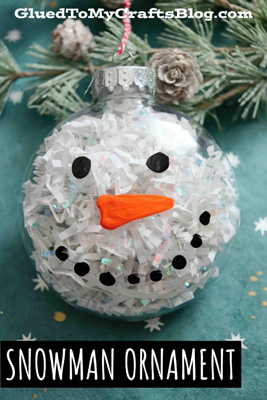 Plastic Ornament Snowman