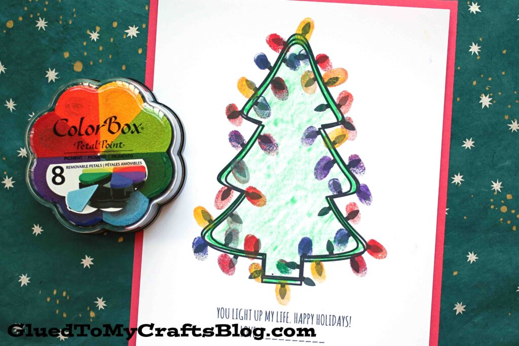 Thumbprint You Light Up My Life - Kid Craft