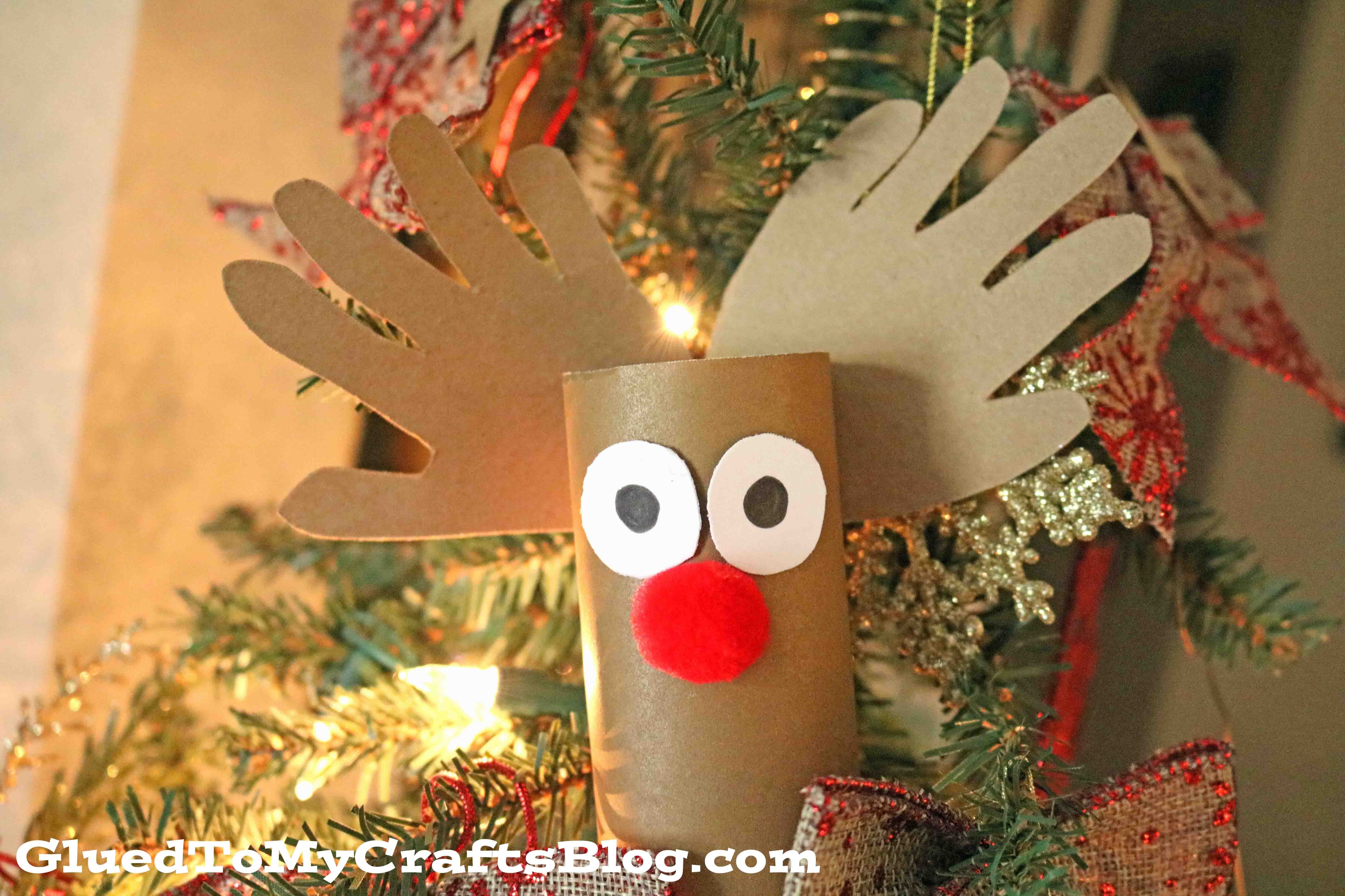 Toilet paper roll reindeer christmas kid craft glued to my crafts jeuxipadfo Choice Image