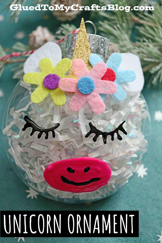 Plastic Ornament Unicorn