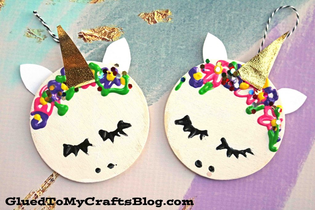 Wooden Circle Unicorn Gift Tags