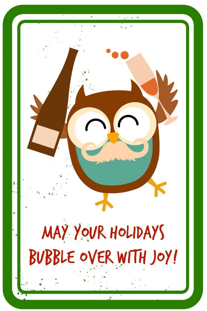 May Your Holidays Bubble Over With Joy - Gift Tag Printable