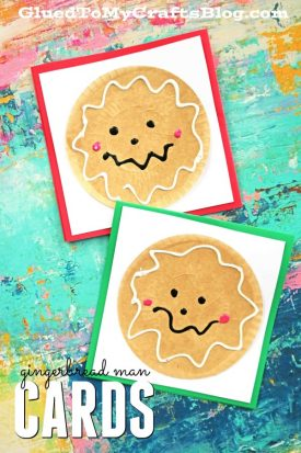 DIY Cupcake Liner Gingerbread Man Cards