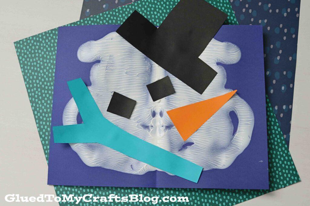 Paint Splat Melted Snowman - Winter Kid Craft Tutorial
