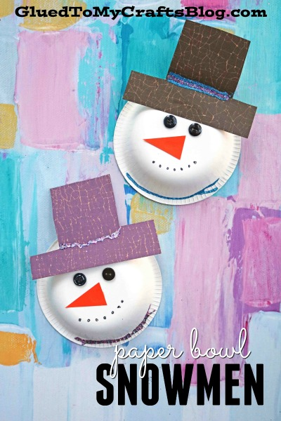 Paper Bowl Snowman Craft For Kids To Recreate This Winter!