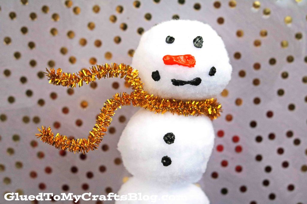 Large Pom Pom Snowmen - Winter Kid Craft