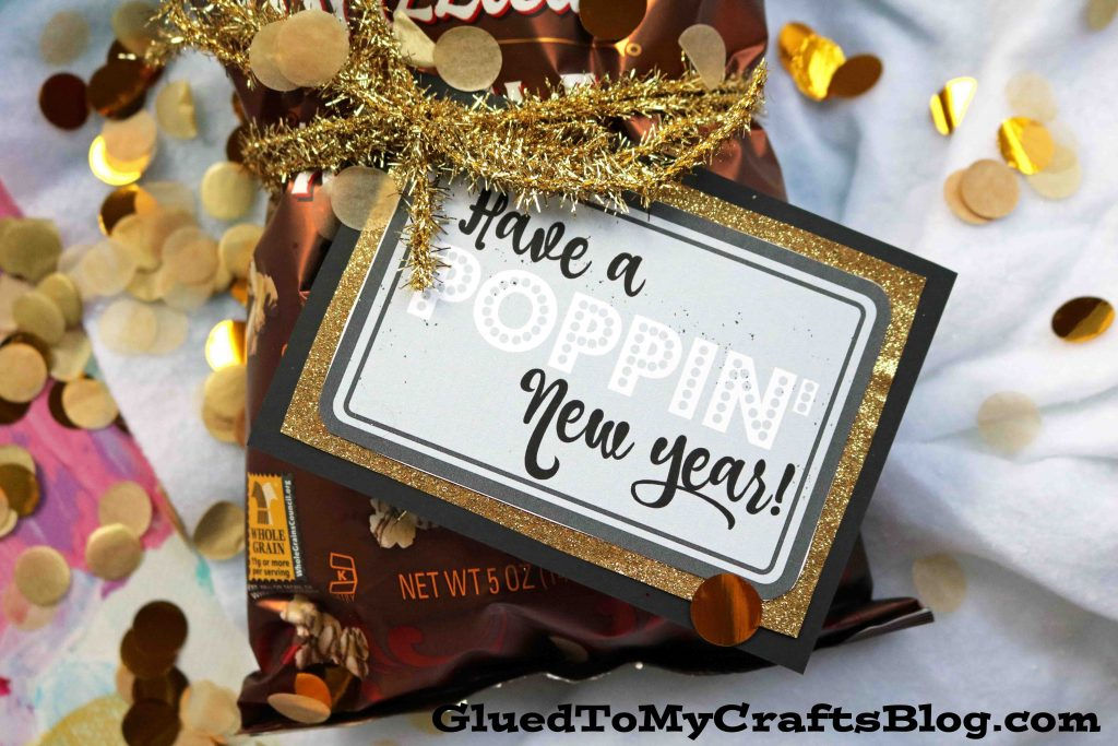 Spread Joy w/our Poppin' New Year's - Gift Tag Printable
