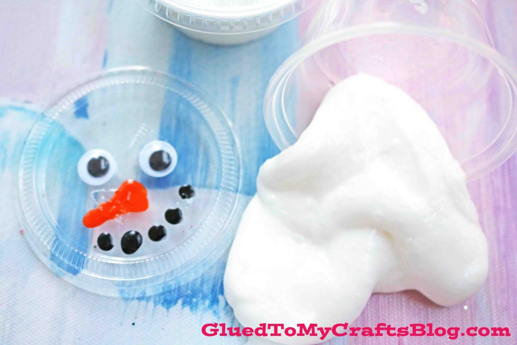 Super Easy Snowman Slime Party Favors