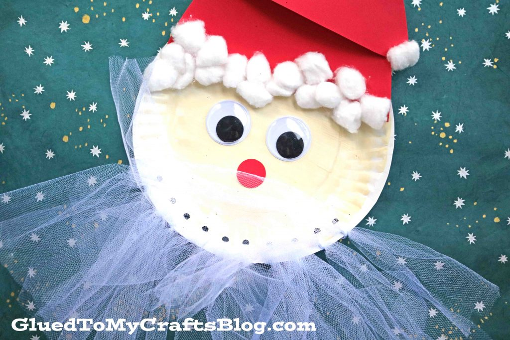 Tulle Bearded Santa - Christmas Kid Craft