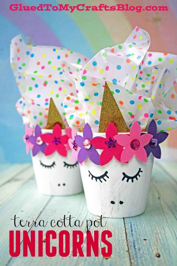 Turn A Terra Cotta Pot Into A Unicorn - Painted Unicorn Clay Pot Craft Idea