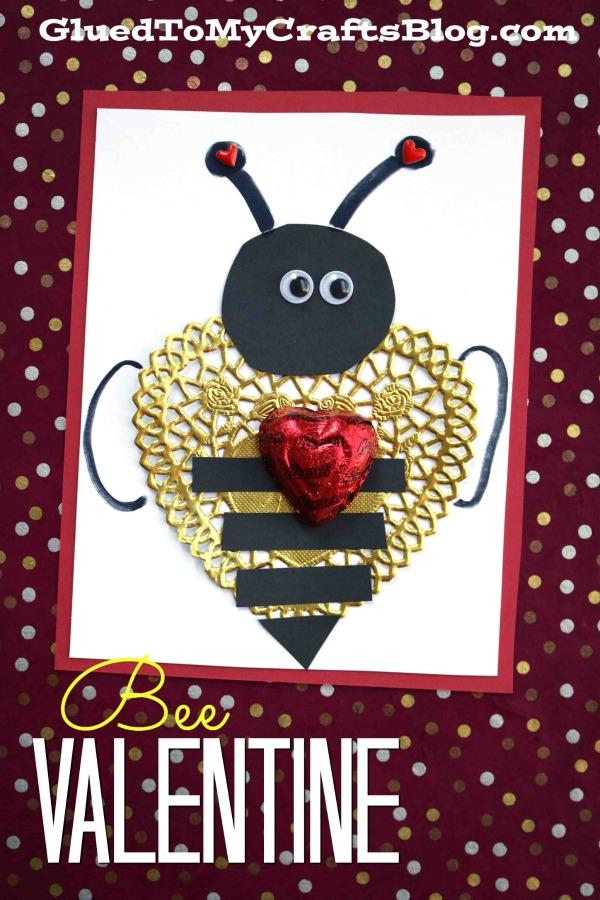 Buzz-Worthy Paper Doily Bee Valentine