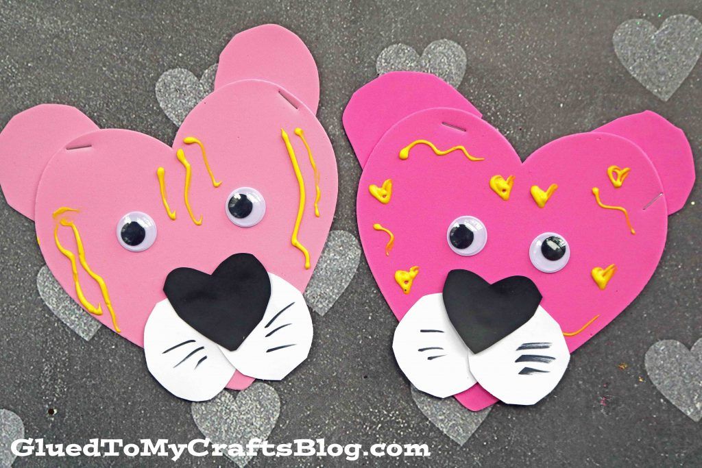 Craft Foam Valentine Tigers - Kid Craft