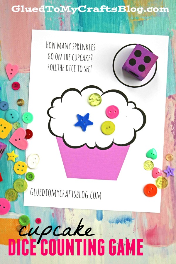 Cupcake Counting Dice Game For Preschoolers - Free Printable To Download!
