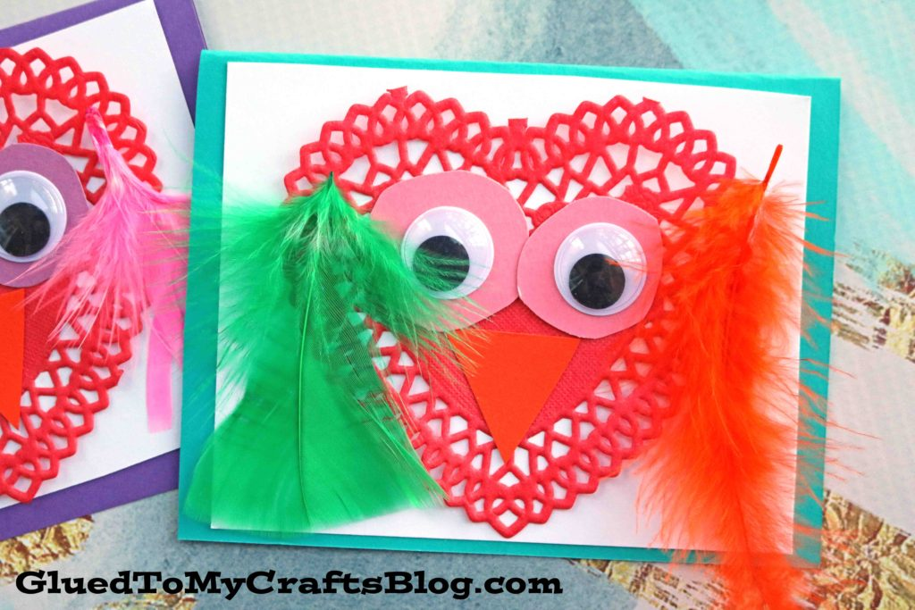 Paper Doily Love Bird Cards