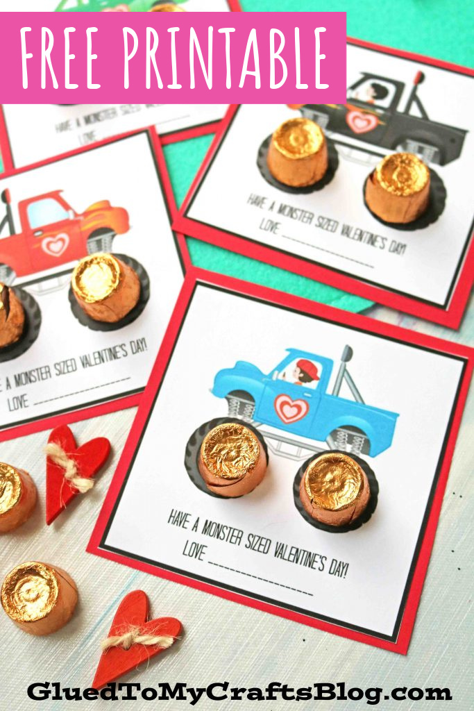 Have A Monster Sized Valentine's Day Gift Tag Printable