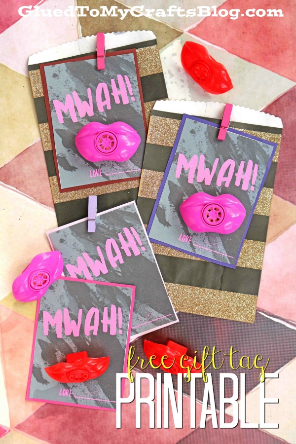 Free MWAH Gift Tag Printable For Valentine's Day