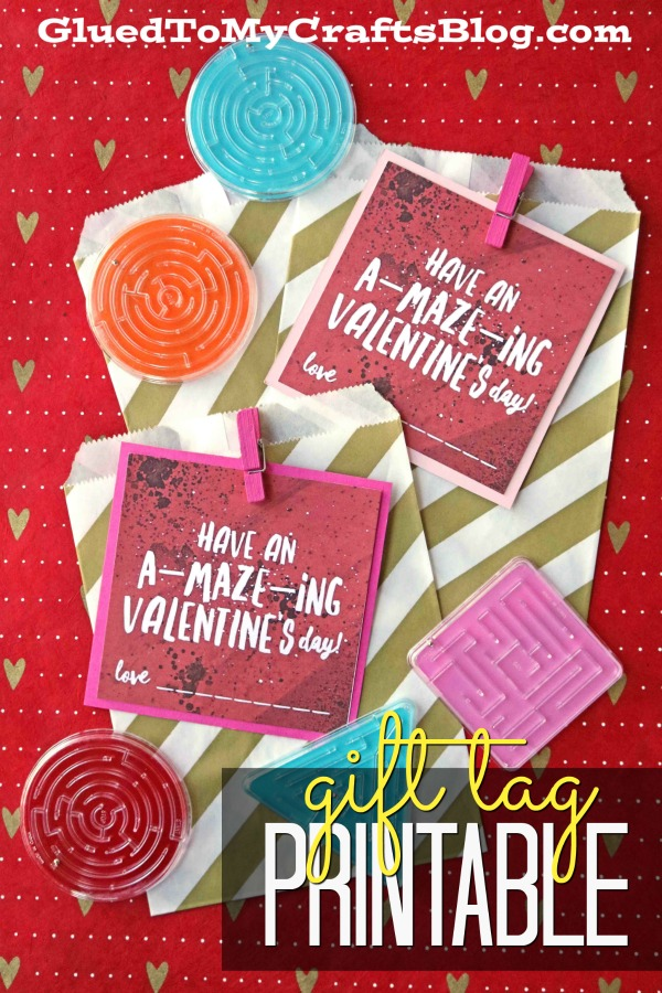 A-MAZE-ING Maze Valentines - Free Gift Tag Printable