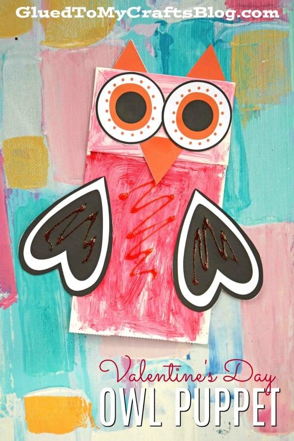 Paper Bag Valentine Owl - Kid Craft