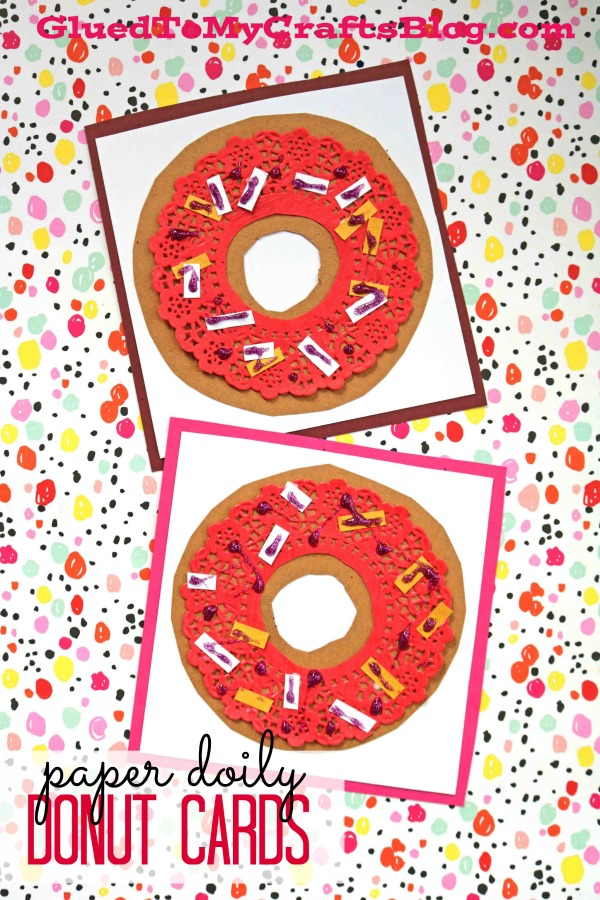 Paper Doily Donut Card - DIY Craft Idea For Valentine's Day