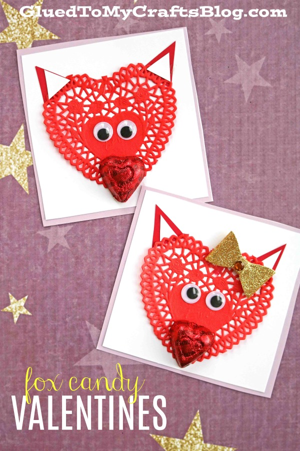 Super Adorable Paper Doily Fox Valentines For Kids To Make This February