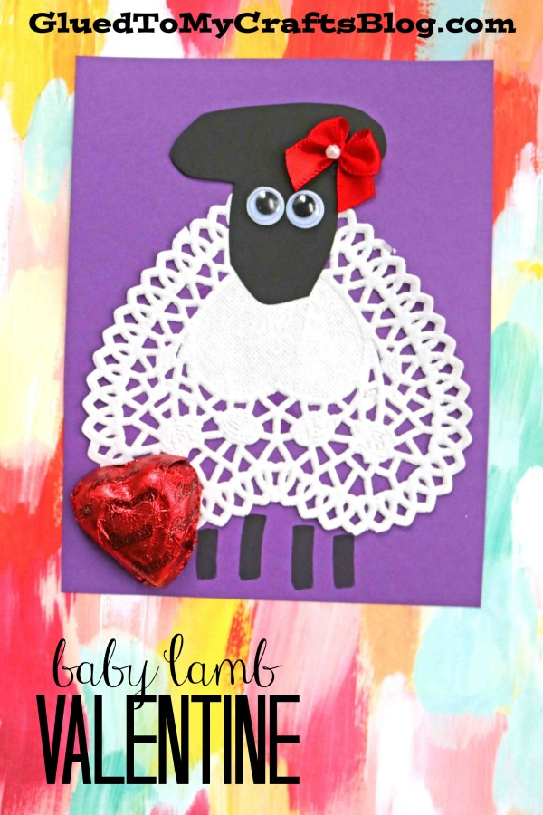 Paper Doily Baby Lamb - Creative Classroom Valentine