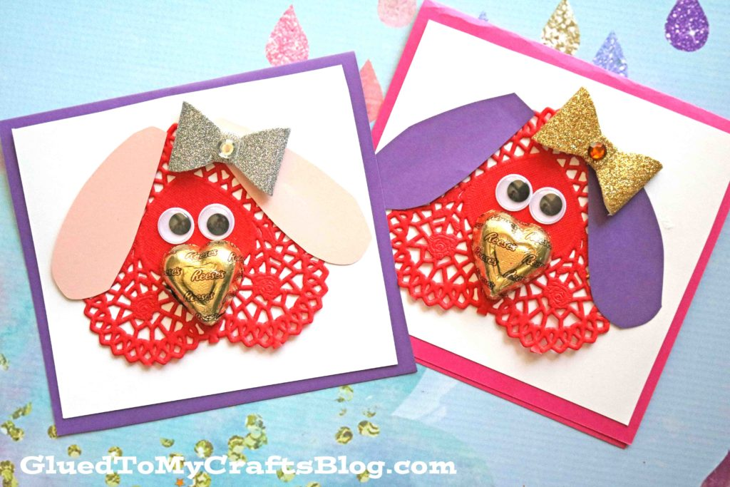 Paper Doily Puppy Valentines For Kids To Make!