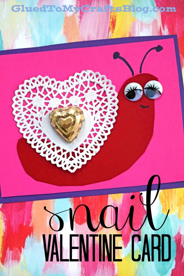 Paper Heart Doily Snail Cards For Valentine's Day