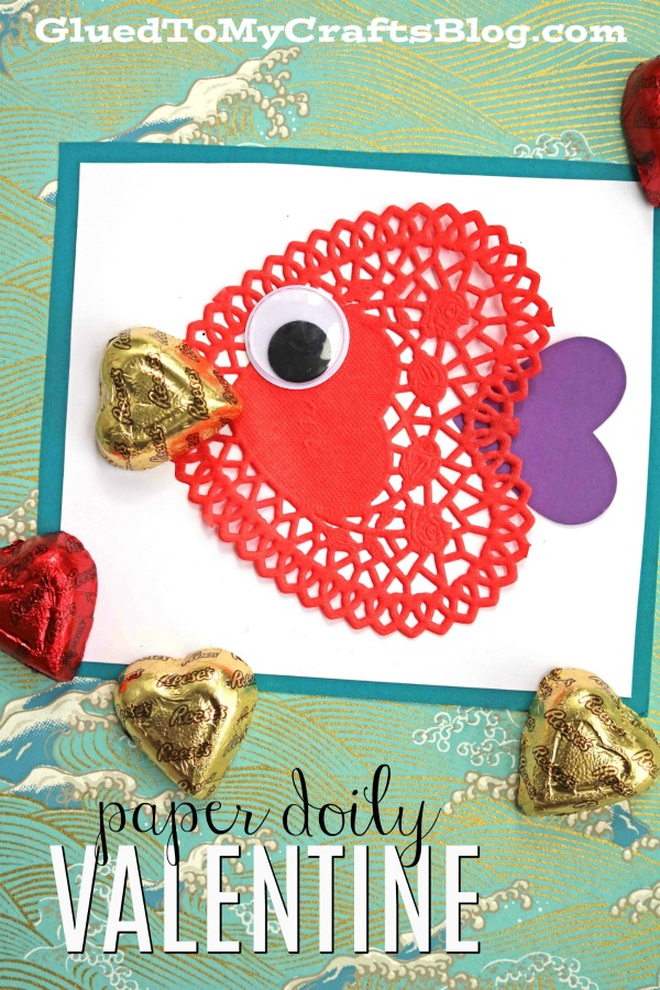 Paper Doily Fish Valentines DIY Paper Doily Fish Valentine's Day Cards For The Classroom