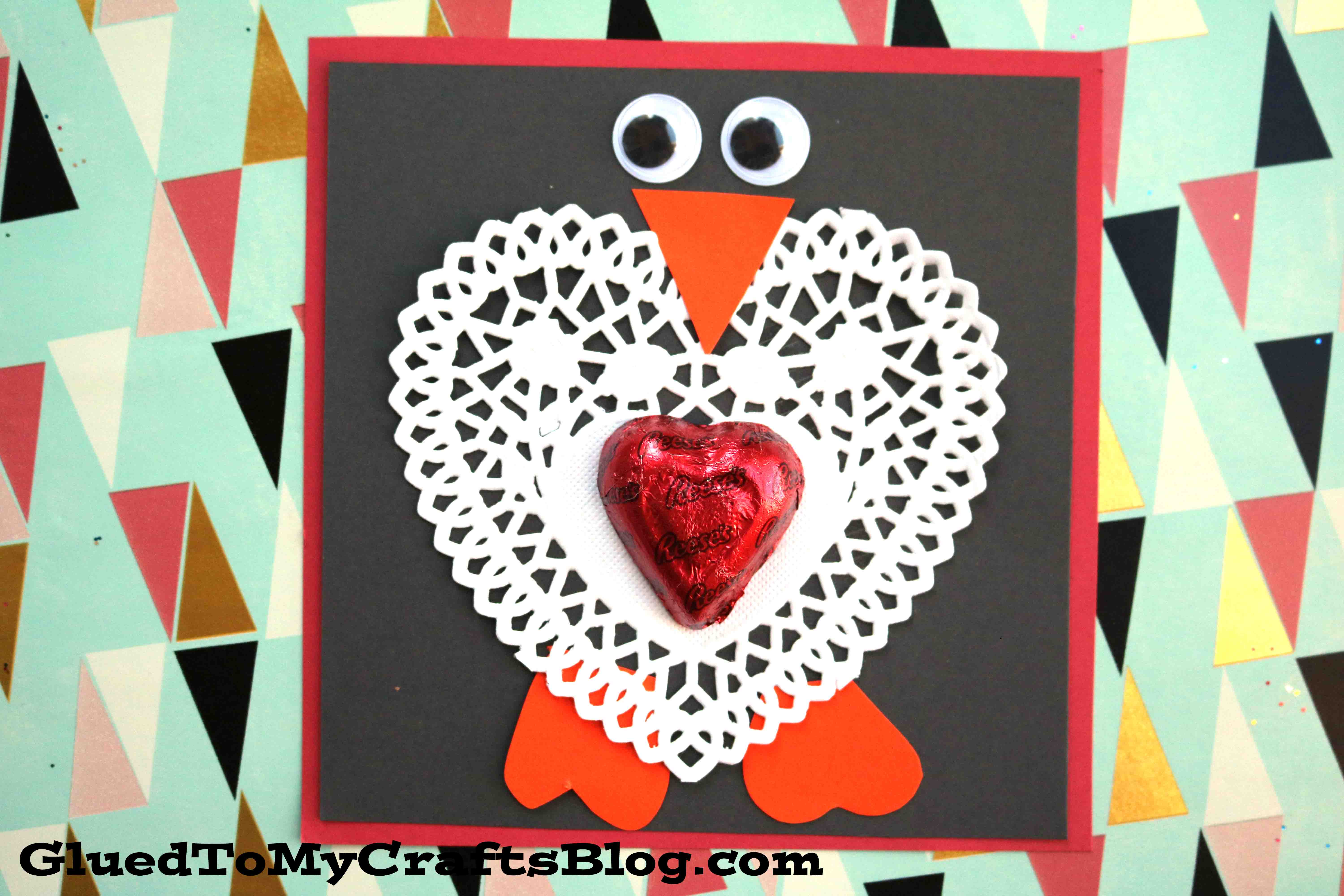 Extra adorable paper heart doily penguin valentine glued to my extra adorable paper heart doily penguin valentine glued to my crafts jeuxipadfo Images