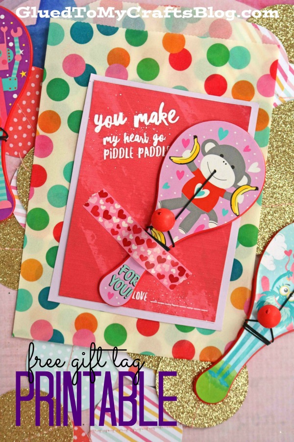 Piddle Paddle Valentine Gift Tag Printable