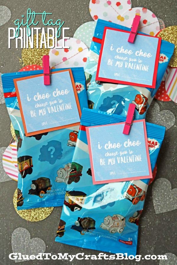 Valentine Train Favors - I CHOO CHOO You Printable