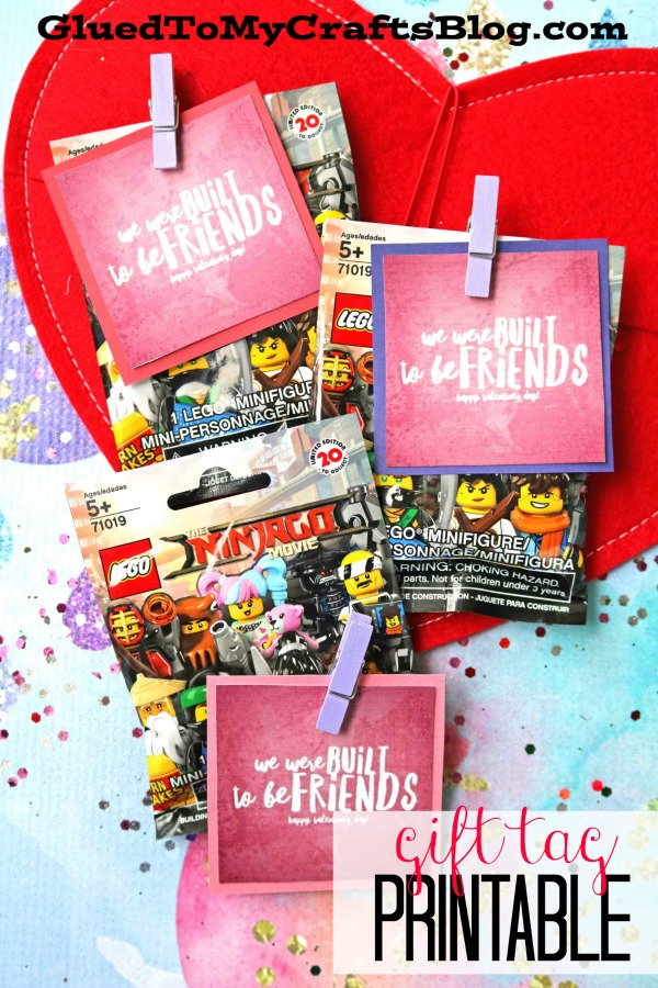 Lego Themed Valentines - Gift Tag Printable