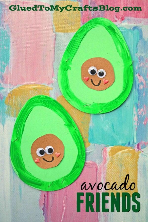 Craft Foam Egg Avocado Friends - Kid Craft