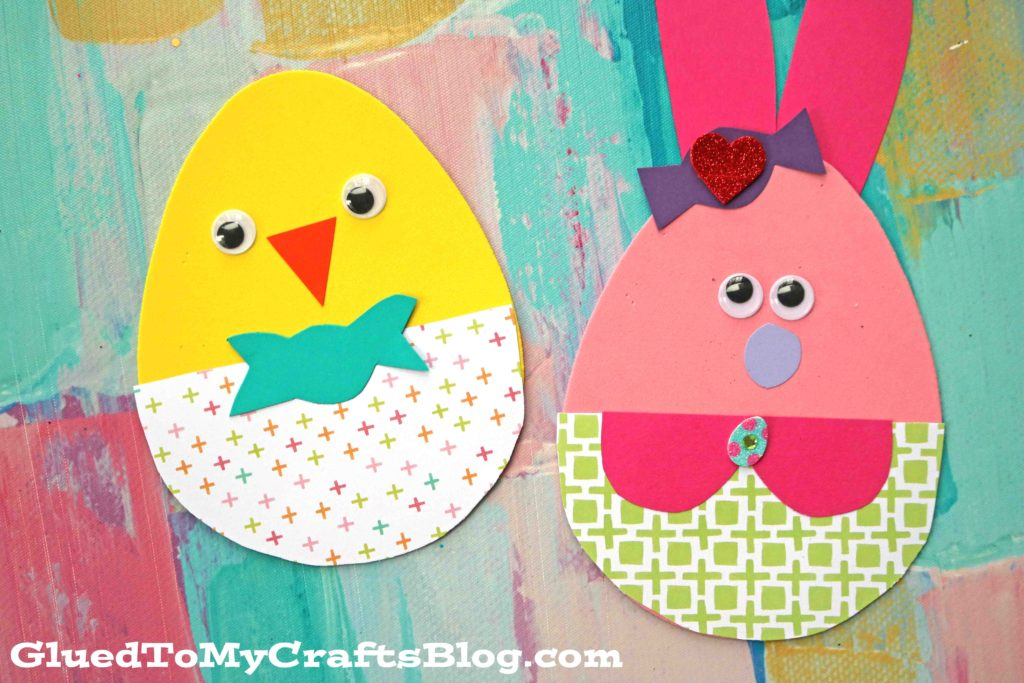 Craft Foam Egg Easter Friends - Kid Craft