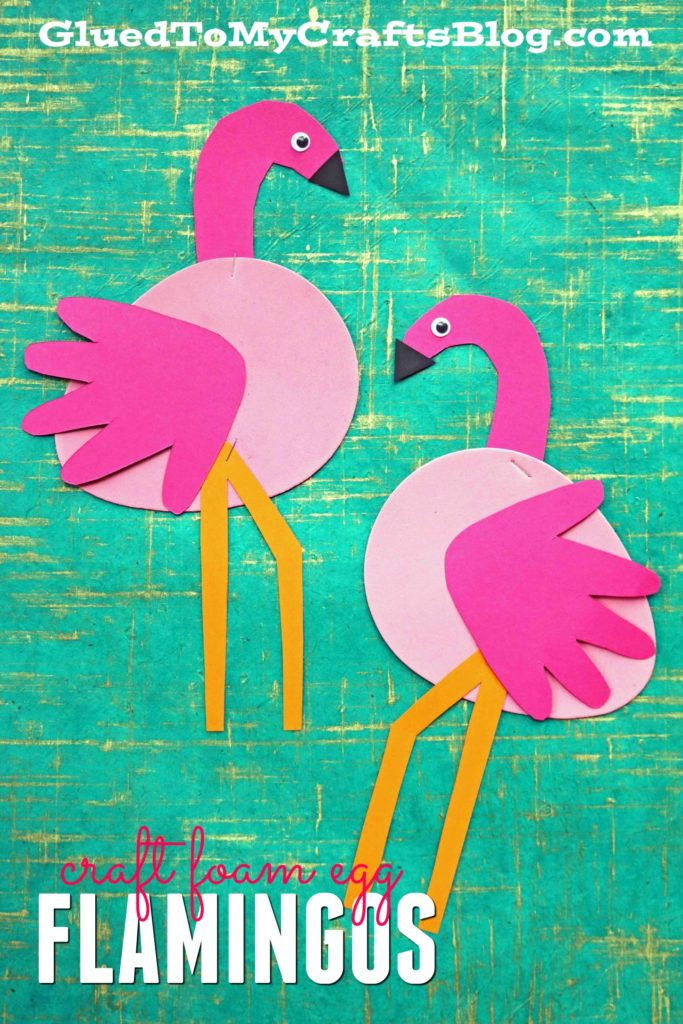 Craft Foam Egg Turned Flamingo - Kid Craft