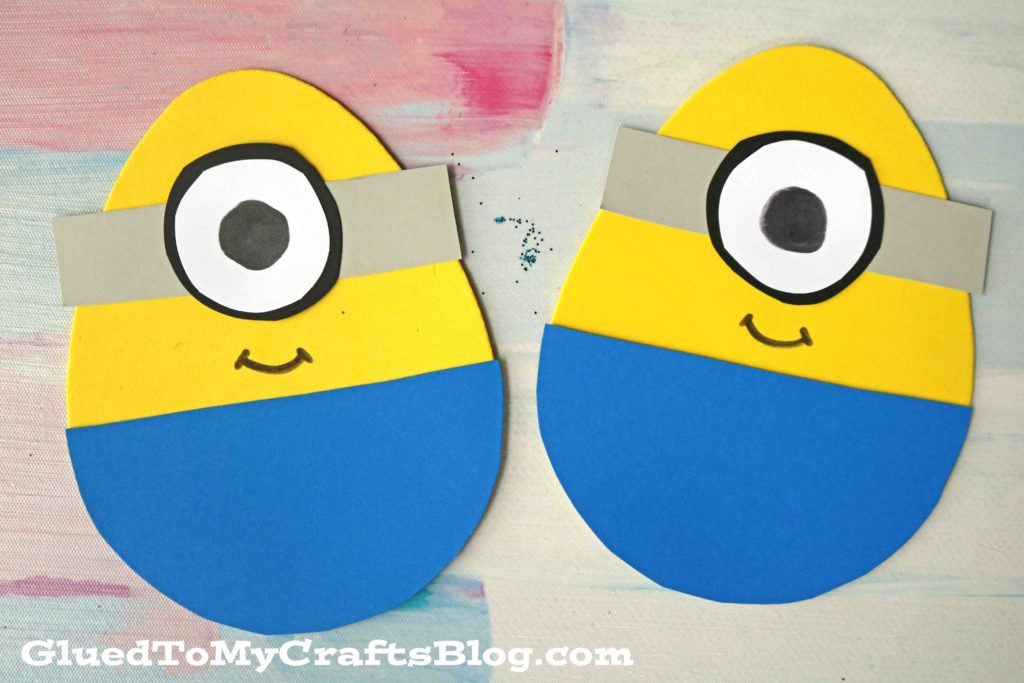 Craft Foam Egg Minions - Easter Kid Craft