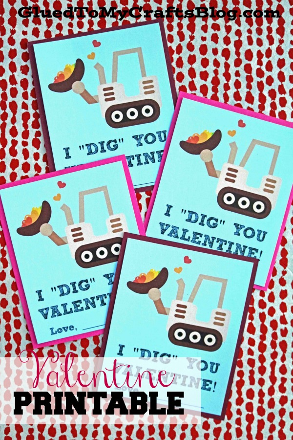 I Dig You Valentine - Free Gift Tag Printable