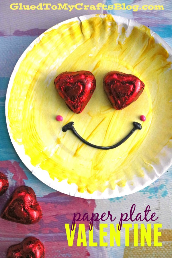 Paper Plate Emoji Valentines - Kid Craft Idea For The Classroom