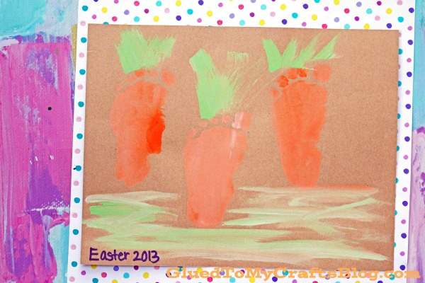 Super EASY Footprint Carrots Keepsake Idea For Easter