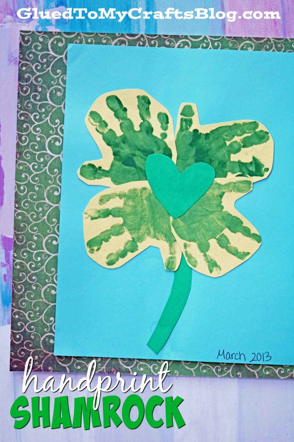 Handprint Shamrock - St. Patrick's Day Kid Craft