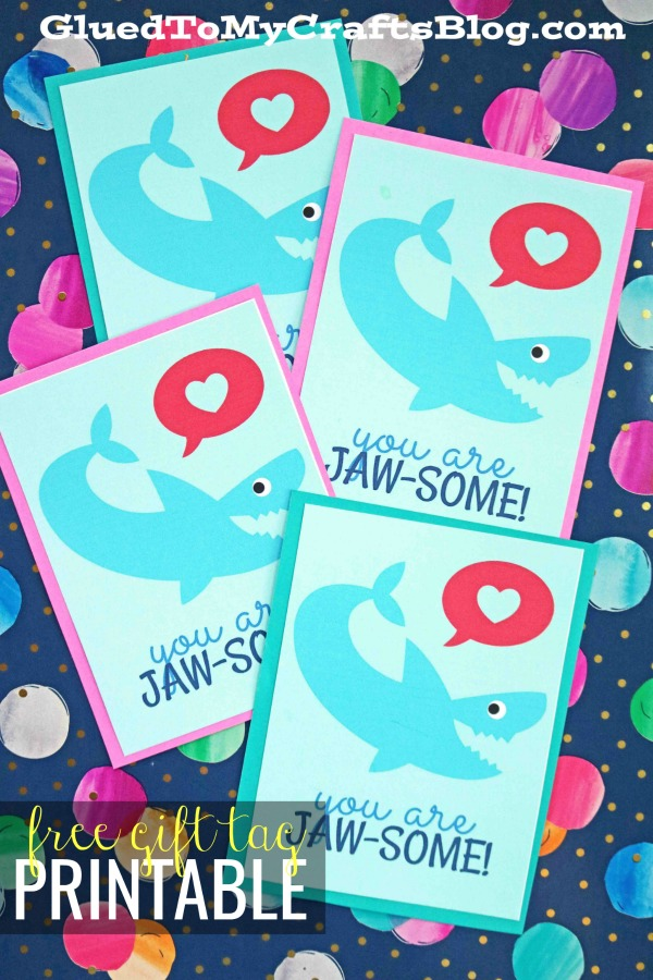 Jaw-Some Valentine's Day Gift Tag Printable