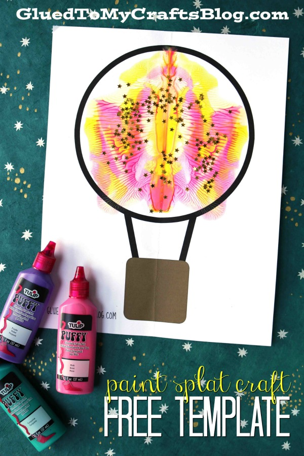 Paint Splat Hot Air Balloon - Kid Craft