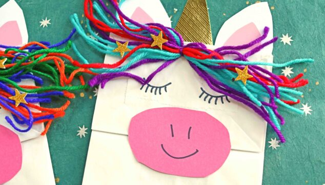 Pretend Play Paper Bag Unicorn Puppet - Kid Craft Idea