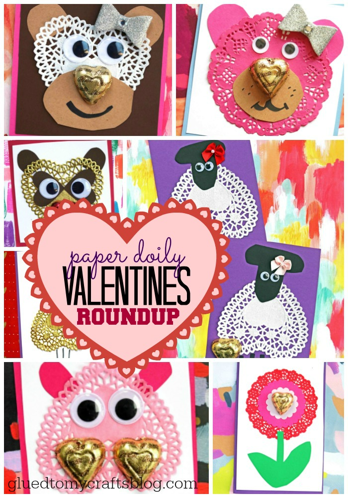 Paper Doily Valentines Craft Collection From Glued To My Crafts